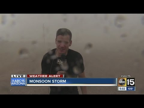 ABC15 reporter caught in Arizona storm