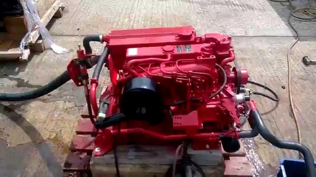 Beta Marine 50 Marine Diesel Engine Test Run