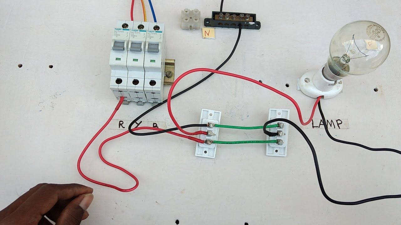 two way switch connection type 3  in tamil ,two way