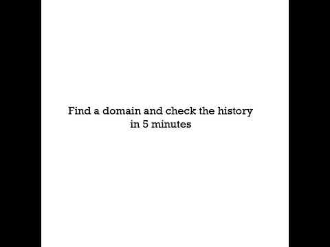 Find a deleted or expired domain and check the history in 5