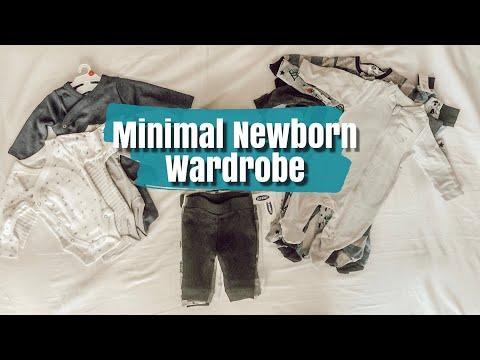 MINIMAL NEWBORN BABY WARDROBE!