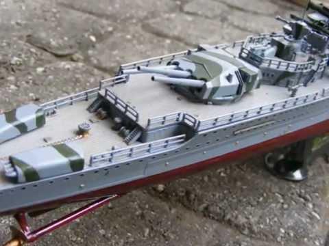 German pocket battleship Graf Spee 1/350 model RC