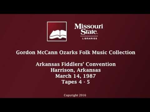 McCann: Arkansas Fiddlers' Convention, March 14, 1987, Tapes 4-5