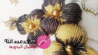 كيفية تنبات وردة منفوخة بالعقيق رائعة و جميلة   Randa   Crochet   Tanbat