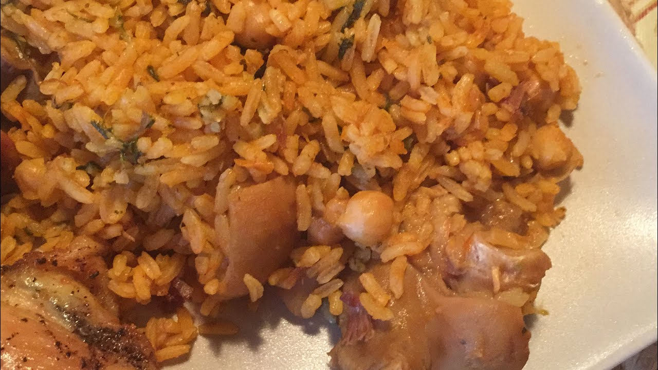 Arroz con garbanzos y patitas a lo boricua como yo youtube - Potaje garbanzos con arroz ...
