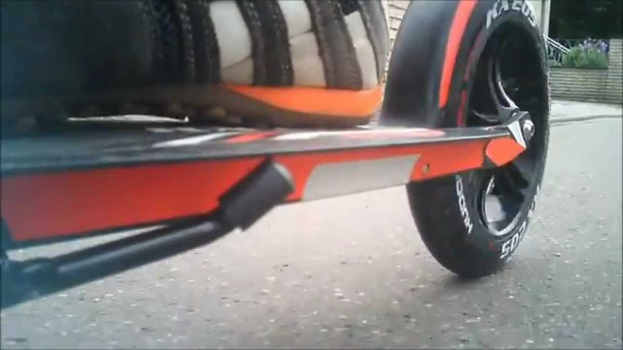 hudora scooter big wheel unboxing and jump