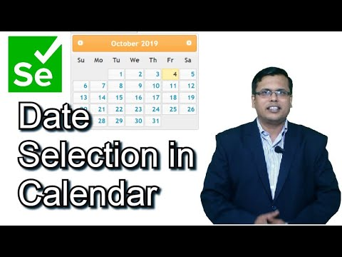 Selecting a date from calendar in Selenium