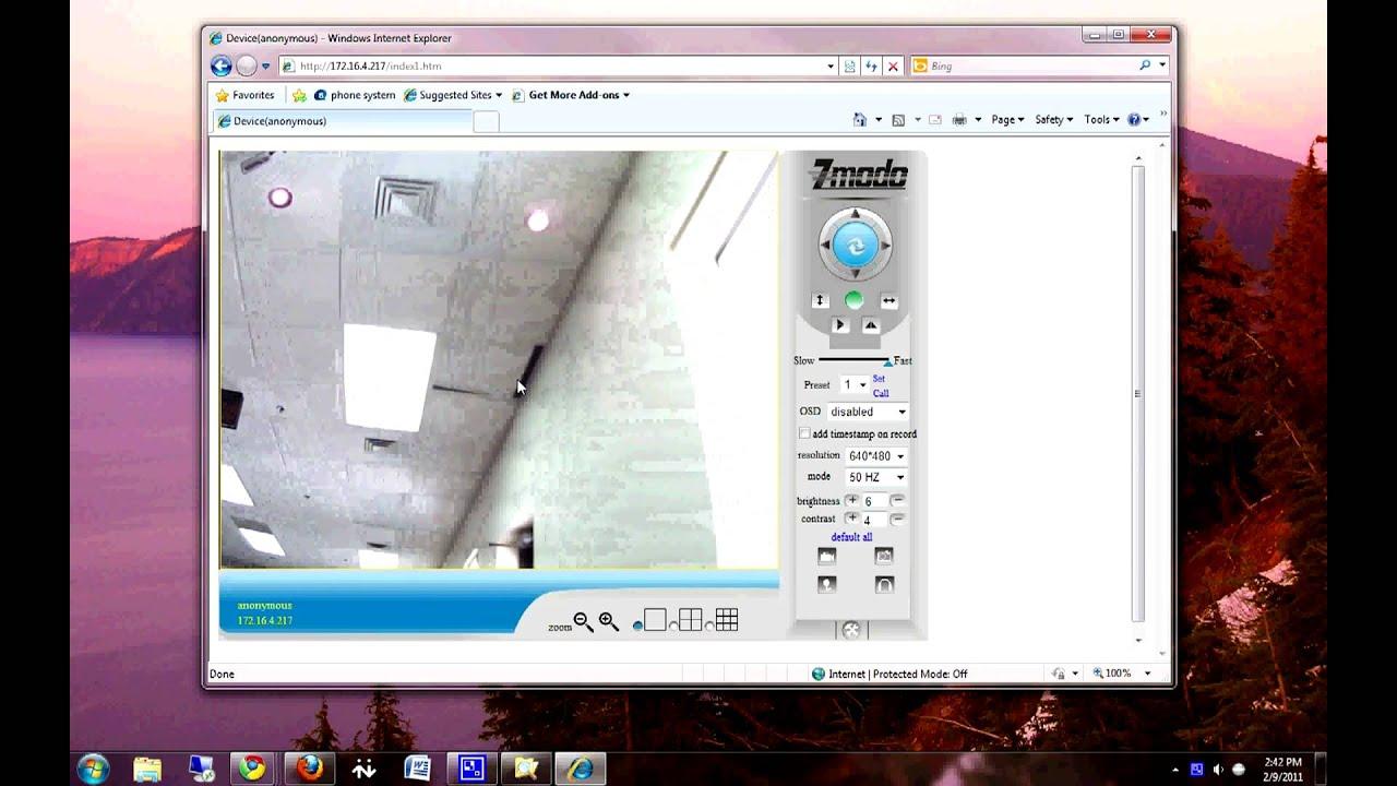 Zmodo 11123BK Indoor Pan Tilt IP Camera Set Up Tutorial