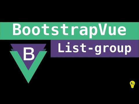 Como usar o list-group do BootstrapVue