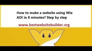 How to make a website using Wix ADI in 8 minutes? Step by step