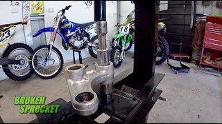 Dirt bike shock linkage rebuild and bearing replacement RM125 bike build.