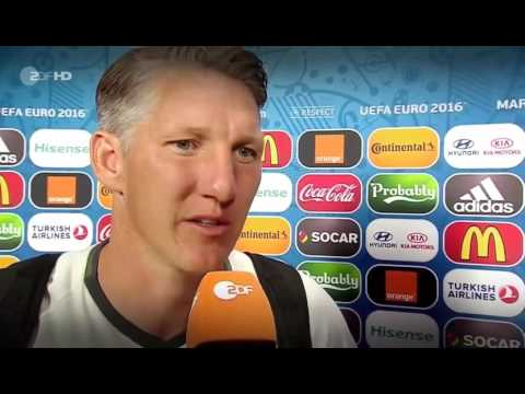 Bastian Schweinsteiger - Letztes Interview bei der Nationalmannschaft - Germany vs. Finland