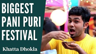 pani puri eating video