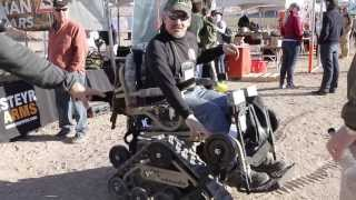 Action track chair - off road capability for handicapable outdoors people