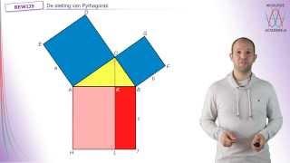 De stelling van Pythagoras - Het bewijs van Euclides - WiskundeAcademie