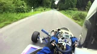 wr450f grass kart on cold slicks crash