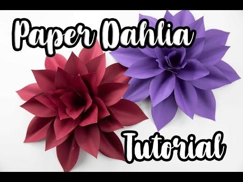 DIY Paper Dahlia Tutorial | Template #25 | Pearl Paper Flowers
