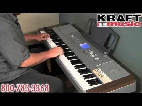 kraft music yamaha dgx 640 digital piano demo youtube. Black Bedroom Furniture Sets. Home Design Ideas