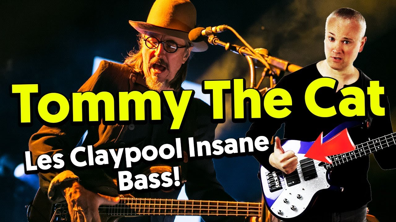(280) Tommy The Cat - The Toughest Les Claypool Bass Line? (Bass Tab