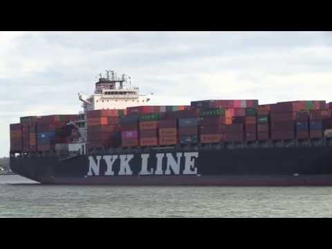 NYK LIne Container Ship | NYK Constellation arriving into Southampton Docks  29/07/19