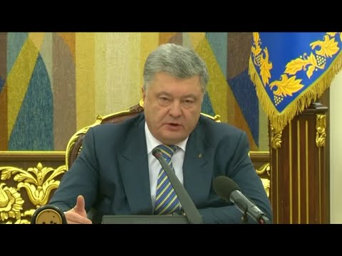 Poroshenko denounces 'cold act of aggression'