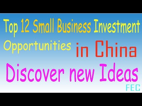 Top 12 Small Business Investment Opportunities In China