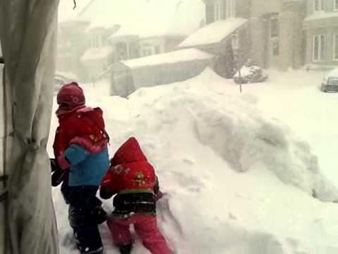 Tempete de neige Laval Qc 2012