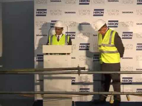 Heron Tower Time Capsule Ceremony