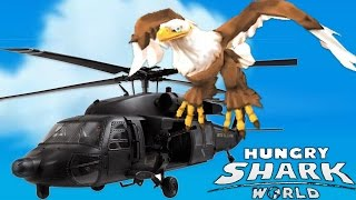 FLYING A BIRD...! - Hungry Shark World - NEW ARCHIE EAGLE HUNGRY SHARK PET