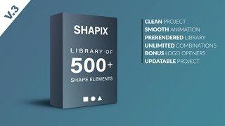 After Effects шаблон Shapix - Shape Elements Pack + видеоуроки скачать бесплатно