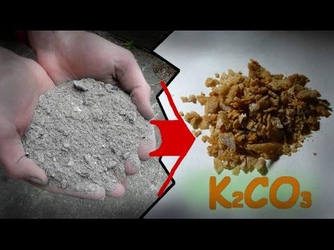 Otrzymywanie Węglanu Potasu Z Popiołu Roślinnego/ Making Potassium Carbonate From Wooden Ash