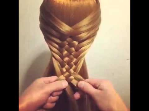 Amazing hairstyle for long hair - YouTube