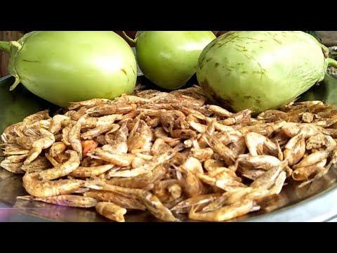 Endu Royyalu & Vankaya(Dried Shrimp/Dry Prawns  & Vankaya) Fry Recipe by Mana Vantalu
