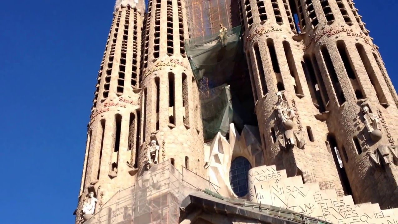 The Unfinished Church In Barcelona Sagrada Familia Antoni Gaudi