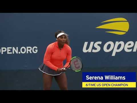 Serena Williams Practices Before 2018 US Open Women's Final Against Naomi Osaka