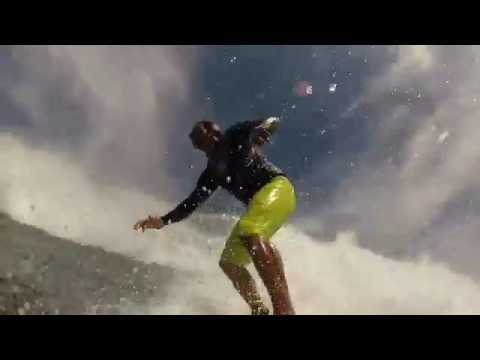 3 angles of Power Surfing at Soup Bowl in Barbados