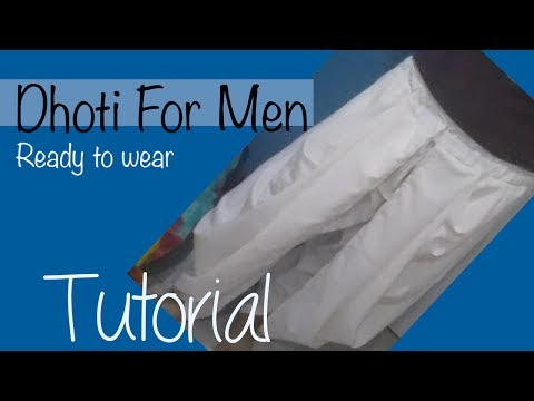how to put on a dhoti