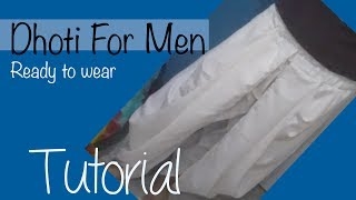 ★ How to make a Dhoti for men ★ Ready to wear :)