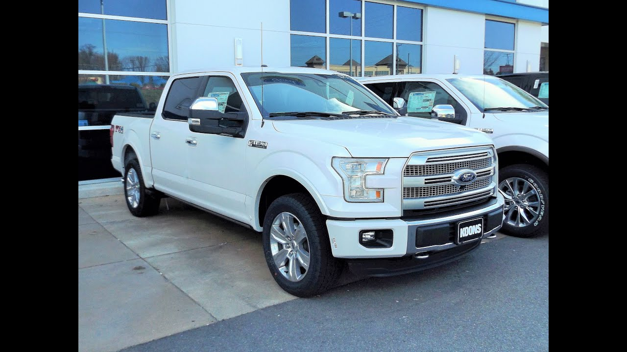 2015 ford f 150 platinum crew cab fx4 5 0l v8 start up tour and review youtube