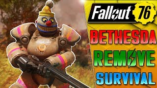 BETHESDA DITCHES SURVIVAL MODE!! - FALLOUT 76 UPDATE NEWS