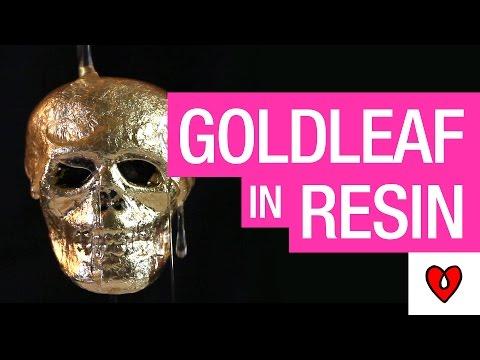 How To Resin Over GoldLeaf