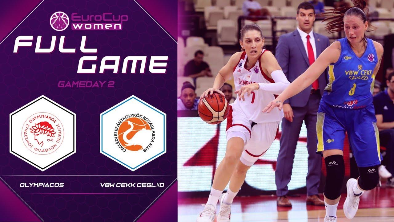 Olympiacos v VBW CEKK Cegled - Full Game - EuroCup Women 2019