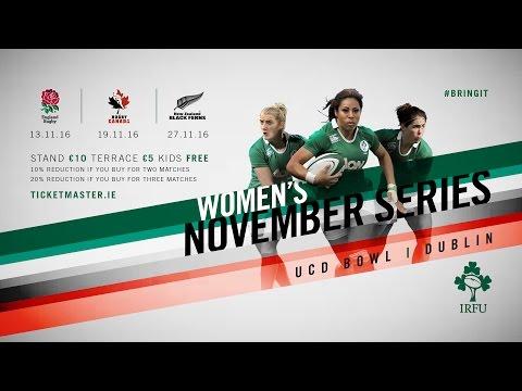 Irish Rugby TV: Ireland Women v Canada Women Live