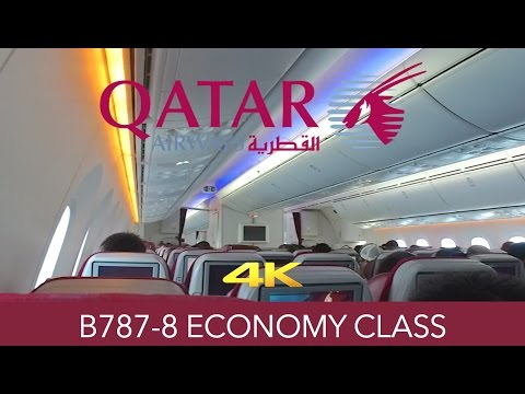 Qatar Airways B787 Doha to Hong Kong Economy 4K Trip Report