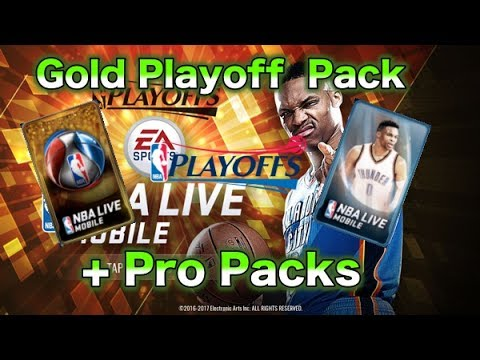 Gold Playoff Player Pack + Pro Packs - NBA Live Mobile