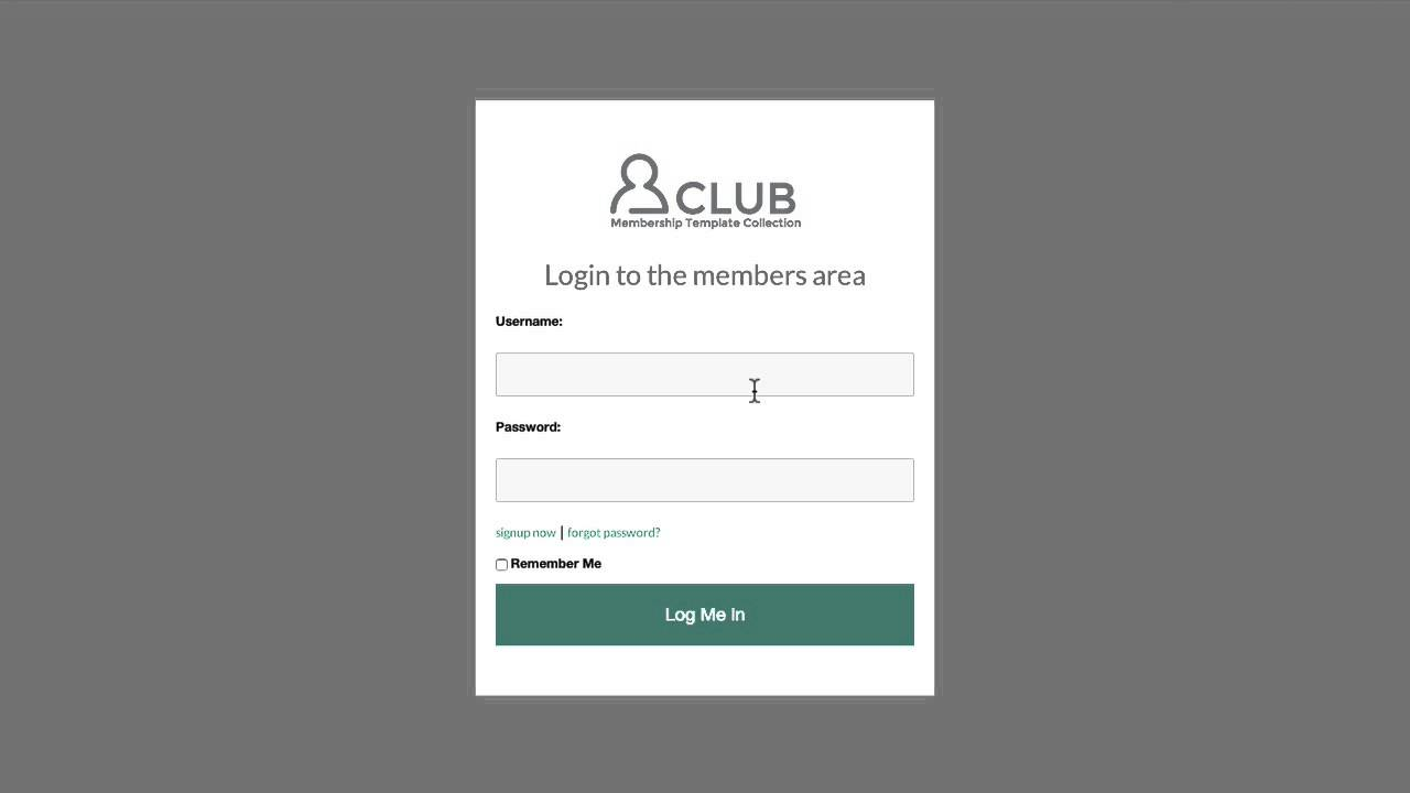 optimizepress club club membership site login page template youtube