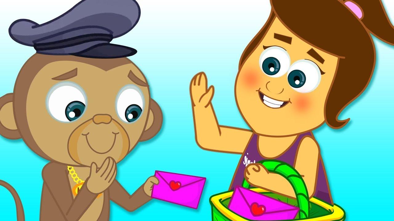 A Tisket A Tasket   Baby Monkey Postman   Nursery Rhymes & Baby Songs by HooplaKidz