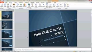Créer un questionnaire interactif avec PowerPoint