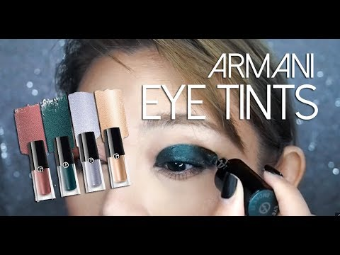 Giorgio Armani Eye Tint Liquid Shadow Lid Swatches And Review
