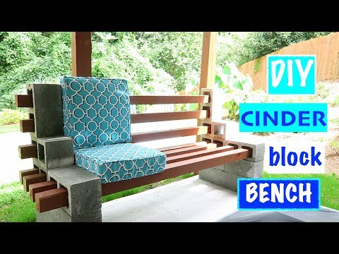 Diy Easy Urban Chic Cinder Block Bench Youtube